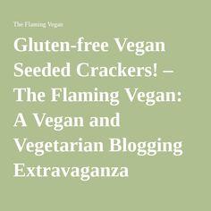 Gluten-free Vegan Seeded Crackers! – The Flaming Vegan: A Vegan and Vegetarian Blogging Extravaganza