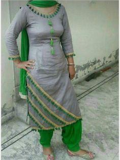 Punjabi Dress Design Of Neck Punjabi Dress Design, Punjabi Suit Neck Designs, Salwar Neck Designs, Churidar Designs, Kurta Neck Design, Neck Designs For Suits, Saree Blouse Neck Designs, Kurta Designs Women, Dress Neck Designs