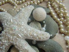 """Купить Заколка-автомат """"Тайна морских глубин... Морская звезда..."""" - белая…"""