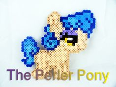 My Little Pony Silly Filly Perler Ponies:Sapphire Shores by ThePerlerPony