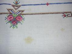 Vintage Cross Stitch Table Cloth
