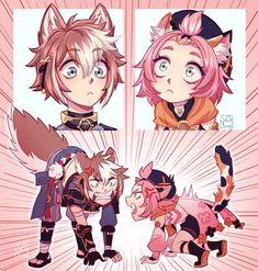 Chibi, Character Art, Character Design, Albedo, Aesthetic Anime, Cute Art, Illustration, Sketches, Fan Art