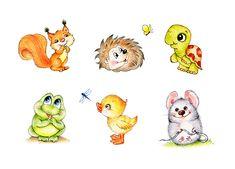 #Turtle #hedgehog #duckling #frog #squirrel #mouse #kidsillustration #colorpencils #drawing #illustration #childrenillustration #nurseryart #handdrawing #greetingcard #цветныекарандаши #иллюстрация
