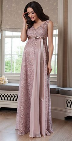1d7e08a424723 Thea Maternity Gown Long Blush by Tiffany Rose Maternity Vintage Dresses,  Cute Maternity Outfits,