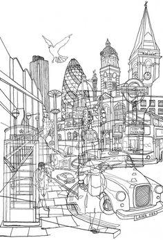 David Bushell. London! Art Print