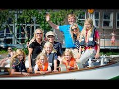 Koninklijke familie op de Groene Draeck naar Sail Amsterdam 2015 - YouTube