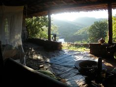 Best hotel room ever.  Open air to a waterfall with elephants and baboons on my patio....Sabuk, Kenya