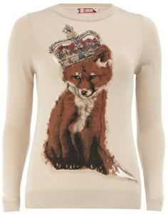 Foxy lady! Loving this regal jumper