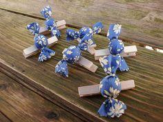 6 pinces papillottes Liberty Capel bleu roi : Accessoires de maison par une-petite-roulotte