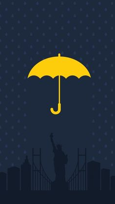 Minimalist How I Met Your Mother poster design How I Met Your Mother, Love Tv Series, Mother Painting, Yellow Umbrella, Mother Art, Dope Wallpapers, Draw On Photos, Cowboy Art, Himym