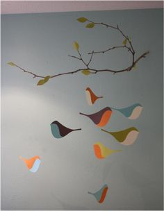 Mobile - Bird mobile - need to change the 'hanger'
