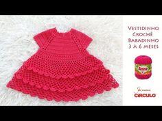 Vestidinho em Crochê passo a passo Prof. Simone Eleotério - YouTube Crochet Bebe, Knit Crochet, Crochet Hats, Baby Knitting, Baby Dress, Blog, Stuff To Buy, Outfits, Dresses