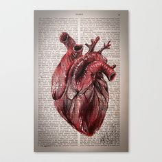 Buy Heart by K I T   K I N G as a high quality Canvas Print. Worldwide shipping available at Society6.com. Just one of millions of products available.