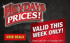 Checkers | Specials - Checkers Heydays promotion is back again! This week, you can enjoy massive savings on these and more quality products in-store. Promotion valid from 09–15 October 2017.