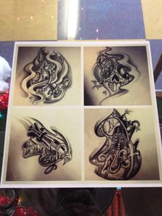 Some sick designs by the guys at Funhouse Tattoo Studio . US Tattoo Scene. #tattoo #tattoos #ink