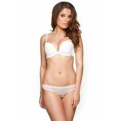 Gossard White 'Glossies' padded plunge bra- at Debenhams.com
