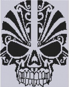 Skull Cross Stitch Pattern by MotherBeeDesigns on Etsy