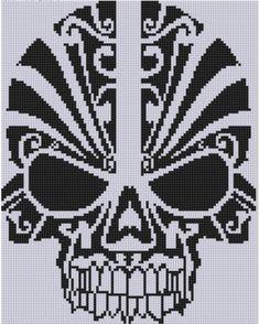 Skull Cross Stitch Pattern