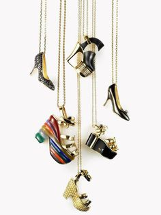 Les miniatures des souliers de Salvatore Ferragamo