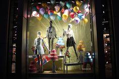 Topshop windows at Knightbridge, London visual merchandising