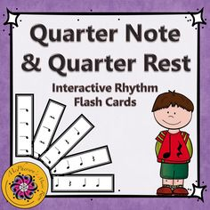 Are you tired of finding a place to keep your rhythmic flash cards? Are you tired of trying to make sure everyone can see them while you hold them high? These interactive flash cards are the answer. Reading or playing quarter notes and quarter rests is now fun - 1, 2 or 4 measure flash cards - you choose! Perfect for any music class!
