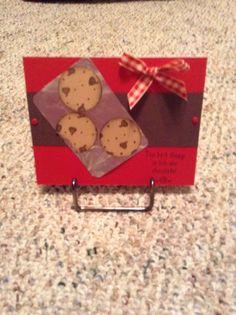 Cute cookie card