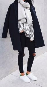 #fall #fashion / stripes + layers