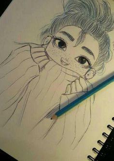 how to draw emojis Pencil Art Drawings, Art Drawings Sketches, Disney Drawings, Easy Drawings, Drawing Base, Beautiful Drawings, Character Drawing, Drawing People, Cute Art