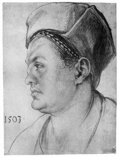 Albrecht Dürer ~ Portrait of William Pirckheimer, 1503