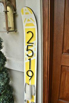 Easy lake home Water Ski House Number diy project. The Little Lake Cottage Décor Ski, Water Ski Decor, Nautique Vintage, Ski Nautique, Haus Am See, Lake Decor, Ski Lodge Decor, Coastal Decor, Tropical Decor
