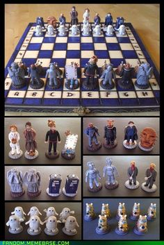 Dr. Who chess board