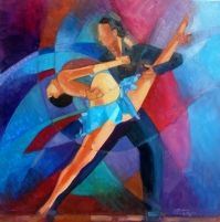 Salsa Dancing Paintings