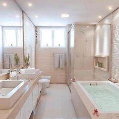 Bathroom Design Luxury, Bathroom Layout, Modern Bathroom Design, Luxury Interior Design, Bathroom Designs, Bathroom Small, French Bathroom, Minimal Bathroom, Budget Bathroom