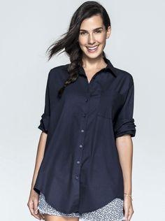Camisa Feminina Boyfriend Em Algodão | Camisas | Feminino | Hering