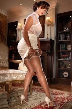 Bridgette Fully Fashioned Stockings with a French Heel $49.99