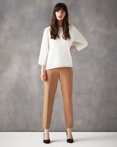 Neutral Cameron Trousers | Phase Eight