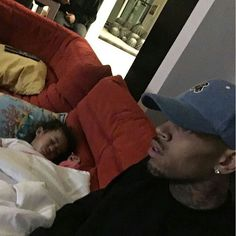 Chris Brown and daughter