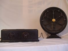 "Atwater Kent 35 & Atwater Kent Speaker model E (1926) ""Antique radio"", ""Tube radio"""