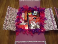 Valentines Care Package decorated for our soldier, our son.