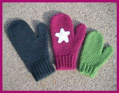 Mrs. Murdocks Mittens - very well written, easy crochet pattern for mittens! 3 sizes included, preschool, kid and adult woman