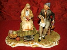 CAPODIMONTE Porcelain Couple Figurine