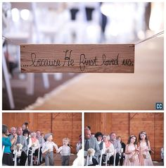 Chelsea Caroline Photography The ceremony at Irongate Equestrian Center