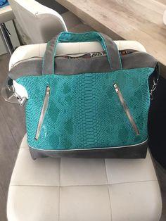 Sac Java turquoise cousu par Claire - Patron sac Sacôtin