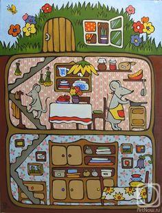 Dina Kalinkina illustration of mouse burrow