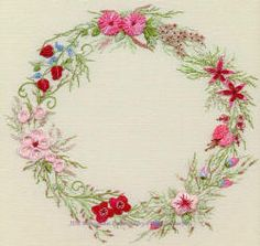 Summer Wreath Brazilian Embroidery  Brazilian Embroidery Design
