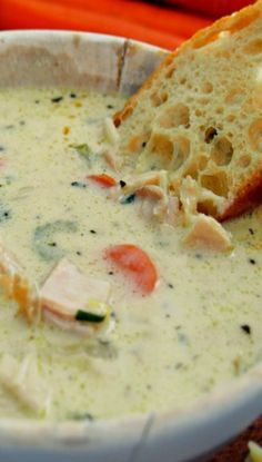 Creamy Chicken Soup...delicious served with slices of crusty french bread.