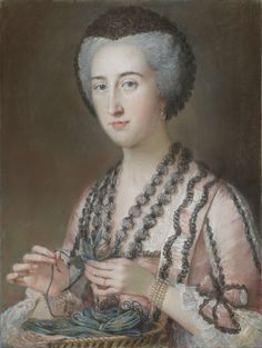 """""""Susannah Hoare, Viscountess Dungarvan, later Countess of Ailesbury,"""" about 1750 - 1760, William Hoare."""