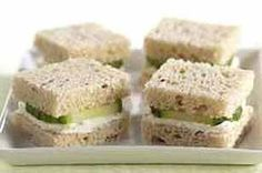 40 Tea Sandwich Recipes - for High Tea Kraft Foods, Kraft Recipes, Tea Recipes, Cooking Recipes, Cheese Recipes, Tapas, Tee Sandwiches, Cucumber Sandwiches, Finger Sandwiches