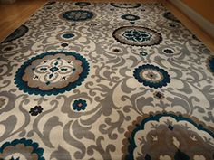 Beautiful Brand New Multi Size Area Rug 8×11 and 5×8 Set Rugs Blue Rug Modern 8×10 Rugs 5×7 Dining Room Carpet…