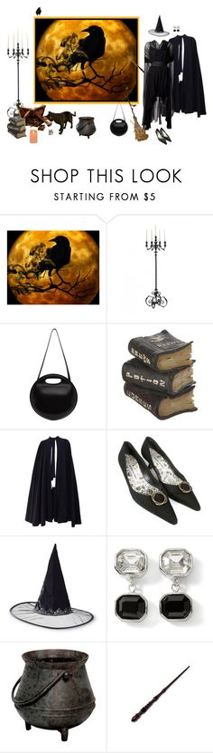 """""""Untitled #7215"""" by msdanasue ❤ liked on Polyvore featuring Lemaire, Jean Muir, Raven Denim, Louiza Babouryan, Manolo Blahnik and White House Black Market"""